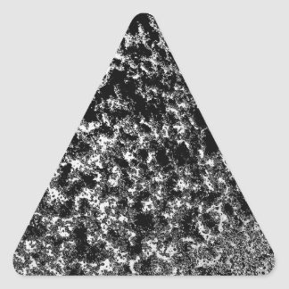 Mirada veteada blanco y negro pegatina triangular