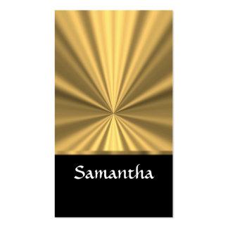 Mirada y negro personalizados del oro tarjetas de visita