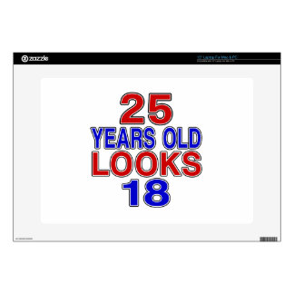 Miradas 18 de 25 años calcomanías para portátiles