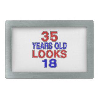 Miradas 18 de 35 años hebilla de cinturón rectangular