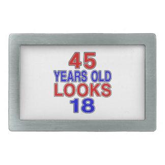 Miradas 18 de 45 años hebillas cinturón rectangulares