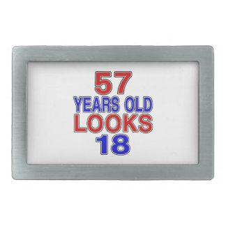 Miradas 18 de 57 años hebillas cinturón rectangulares