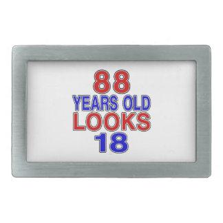 Miradas 18 de 88 años hebilla cinturón rectangular