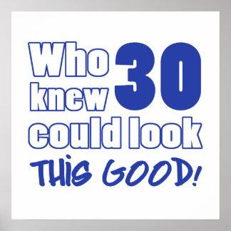 Miradas de 30 años buenas póster