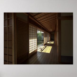 Mirador del templo del zen de Daitoku-ji - Kyoto J Poster