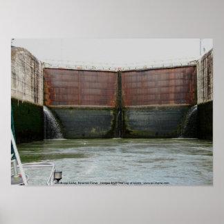 Miraflores Locks, Panama Canal Poster