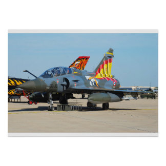 Mirage 2000D French Air Force 30-JO Poster