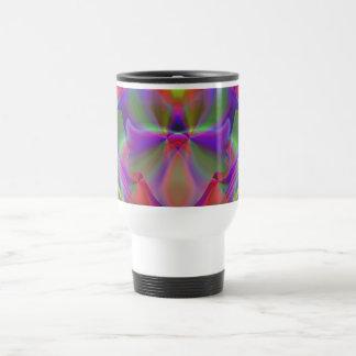 Mirage 5 Glowing Rainbow Abstract Travel Mug