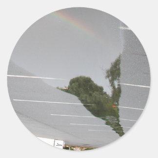 Mirage of Reflection Classic Round Sticker