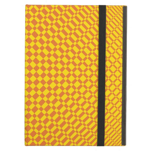 'Mirage' | Vibrant Yellow on Russet Orange | Case For iPad Air