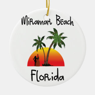 Miramar Beach Florida. Ceramic Ornament