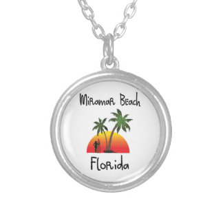 Miramar Beach Florida. Silver Plated Necklace