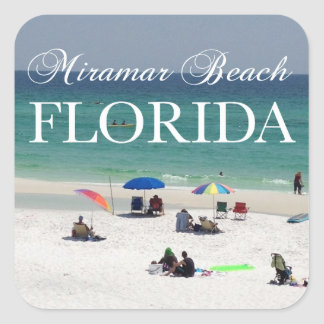 Miramar Beach Florida Square Sticker