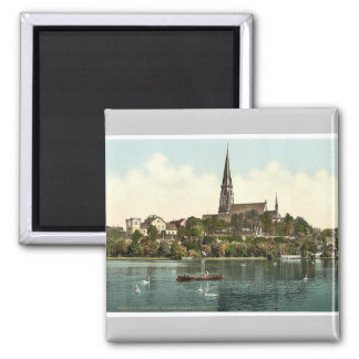 Miramer Castle and Lake, Chemnitz, Saxony, Germany Magnet