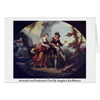 Miranda And Ferdinand Oval By Angelica Kauffmann Card