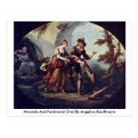 Miranda And Ferdinand Oval By Angelica Kauffmann Postcards