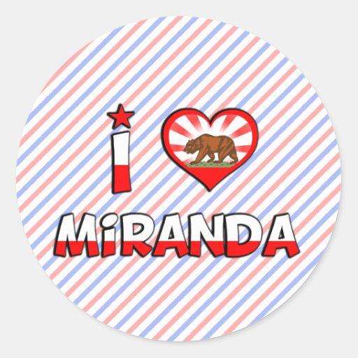 Miranda, CA Pegatina Redonda