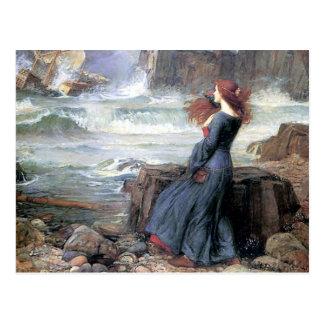 Miranda del Waterhouse la ruina de la nave de la m Tarjeta Postal