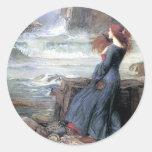 Miranda del Waterhouse la ruina de la nave de la Etiqueta Redonda