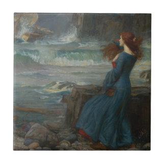 Miranda (la tempestad) azulejo ceramica