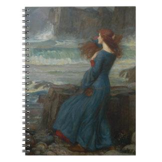 Miranda (la tempestad) libro de apuntes