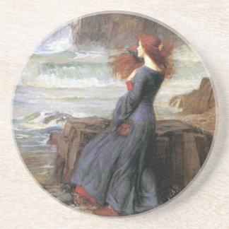 Miranda - la tempestad - John William Waterhouse Posavasos Manualidades