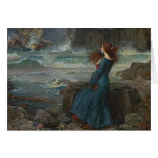 Miranda (la tempestad) tarjeta de felicitación