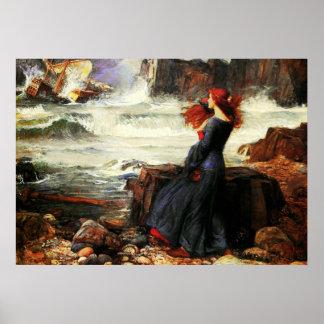 Miranda - las 1916) lonas de bella arte del ~ de l poster