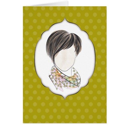 Miranda - portrait of a woman greeting card