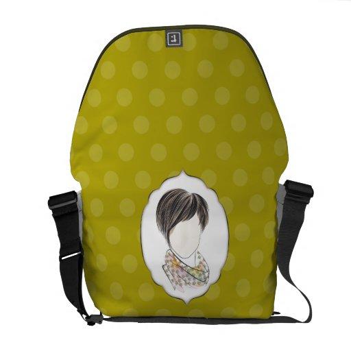 Miranda - portrait of a woman messenger bag