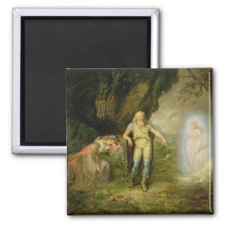 Miranda, Prospero and Ariel, from 'The Tempest' by 2 Inch Square Magnet