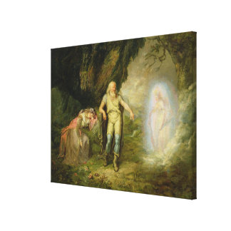 Miranda, Prospero and Ariel, from 'The Tempest' by Canvas Print