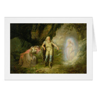 Miranda, Prospero and Ariel, from 'The Tempest' by Card