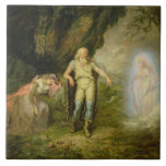 Miranda, Prospero and Ariel, from 'The Tempest' by Large Square Tile