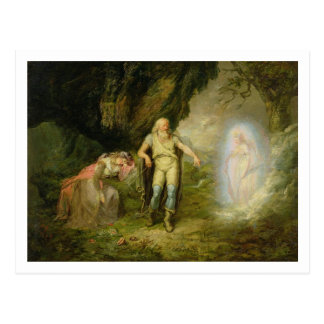 Miranda, Prospero and Ariel, from 'The Tempest' by Postcard