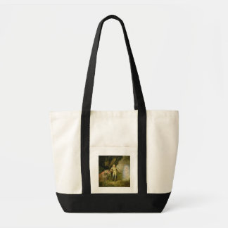 Miranda, Prospero and Ariel, from 'The Tempest' by Tote Bag