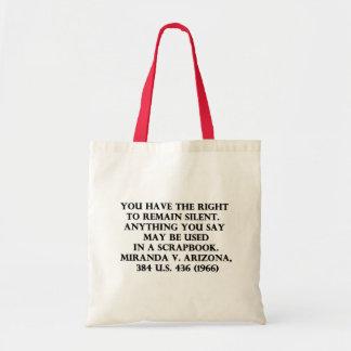 Miranda Rights Scrapbook bag