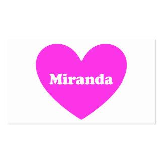 Miranda Tarjetas De Negocios