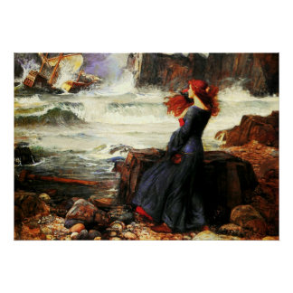 Miranda - The Tempest (1916)  ~ Fine Art Canvas Poster