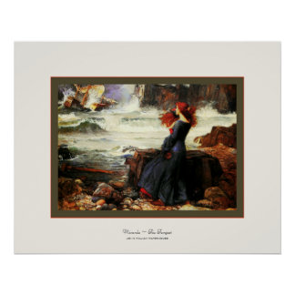 Miranda ~ The Tempest ~ John W. Waterhouse Poster