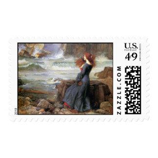 Miranda - The Tempest - John William Waterhouse Postage Stamp