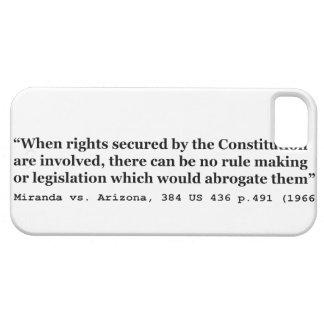 Miranda vs Arizona 384 US 436 p 491 1966 iPhone SE/5/5s Case