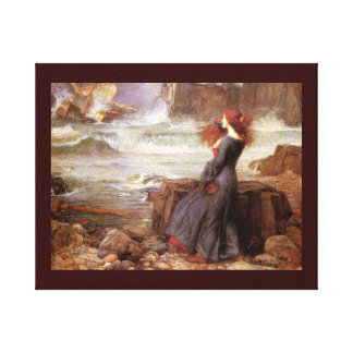 Miranda Watching Shipwreck (Tempest) Canvas Print