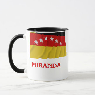 Miranda Waving Flag with Name Mug