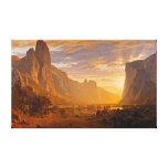 Mirando abajo del valle de Yosemite, por Albert Impresión En Lienzo
