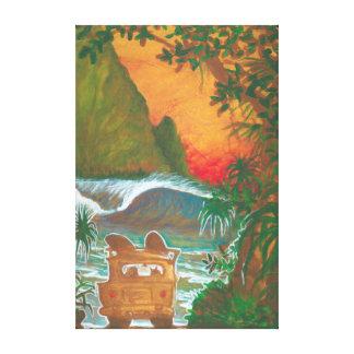 Mirando al hombre de la puesta del sol perseguir y impresiones de lienzo
