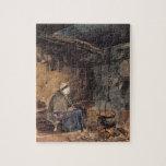 Mirando el pote hervir - un interior de la cabaña rompecabezas con fotos