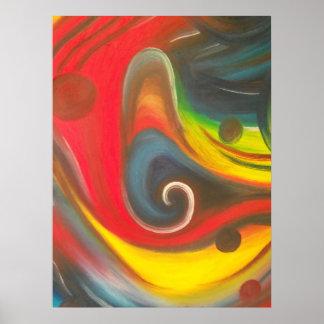 Mirando, una pintura al óleo poster