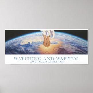 """""""Mirando y esperando"""" por Lonni Clarke Póster"""