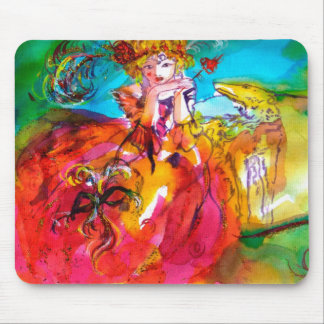 MIRANDOLINA pink red blue yellow Mouse Pad